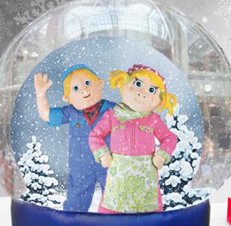 Bart_en_Bibi in de snowglobe