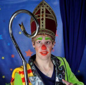 Clown_Dico met Sinterklaas