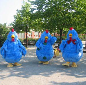 De Kippets, kakel, kibbeltje en knappie, de 3 kippen