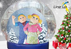 bart en bibi meet en greet in de snowglobe