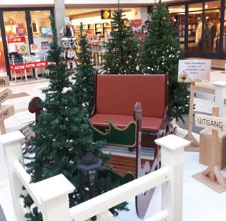 Kerstdecoratie met arrenslee