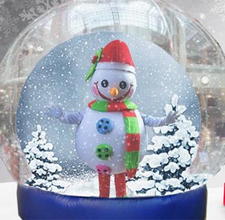 Snowie in the snowglobe