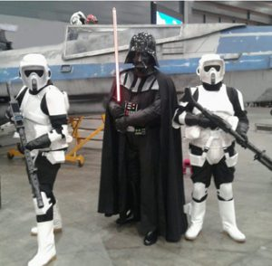 starwars darth vader met stormtroopers