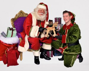 de kerstman en jingle de kerstelf
