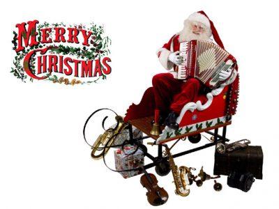 muzikale kerstman