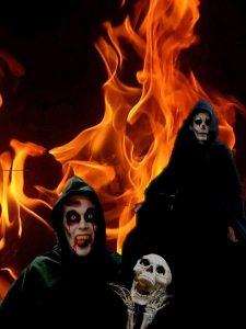 steltenact met halloween